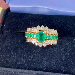 Jewelry - 💍Colombian Emerald Ring with Diamonds💍